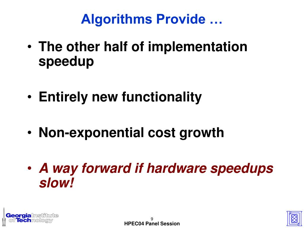 Algorithms Provide …