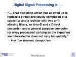digital signal processing is