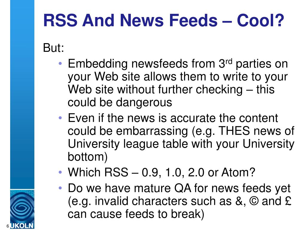 RSS And News Feeds – Cool?