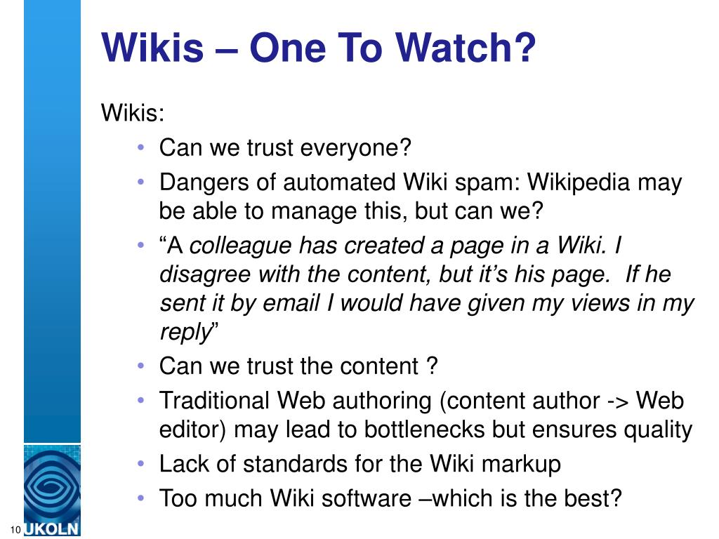 Wikis – One To Watch?
