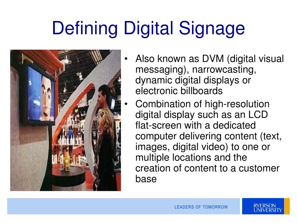 Defining Digital Signage