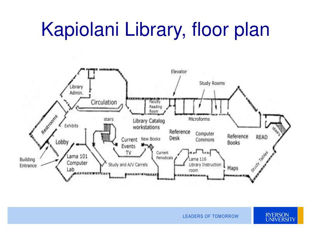 Kapiolani Library, floor plan