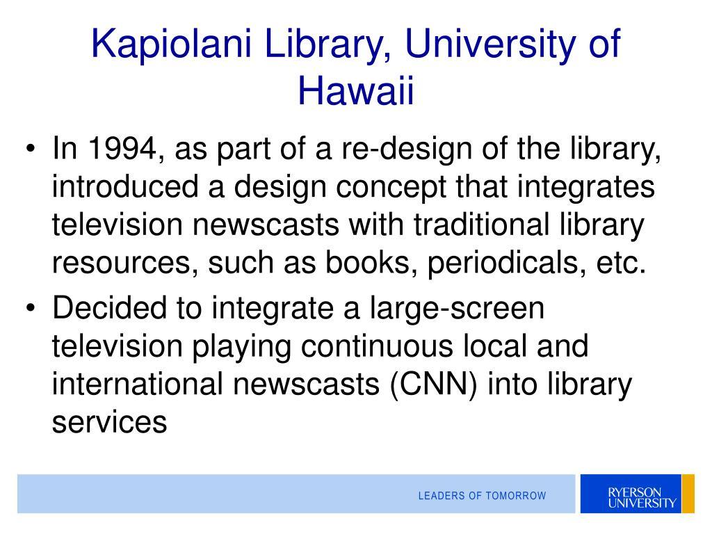 Kapiolani Library, University of Hawaii