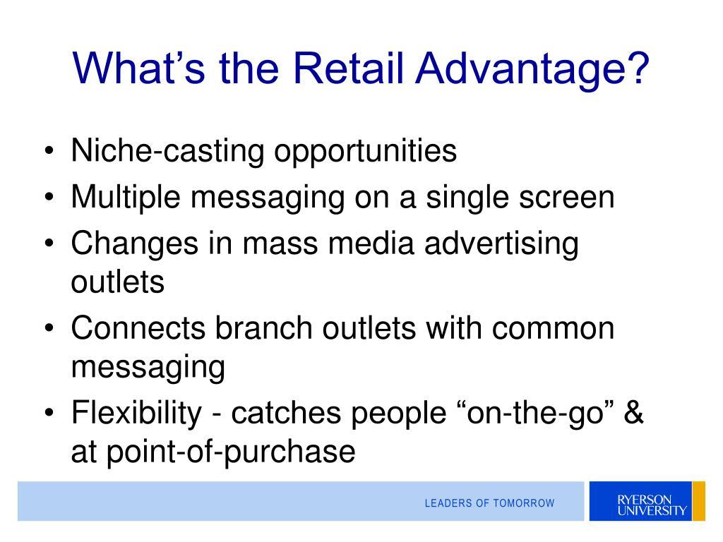 What's the Retail Advantage?