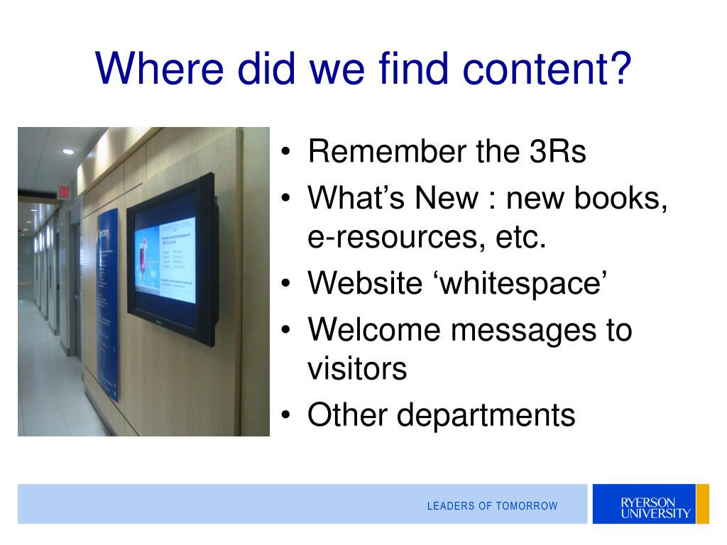 Where did we find content?