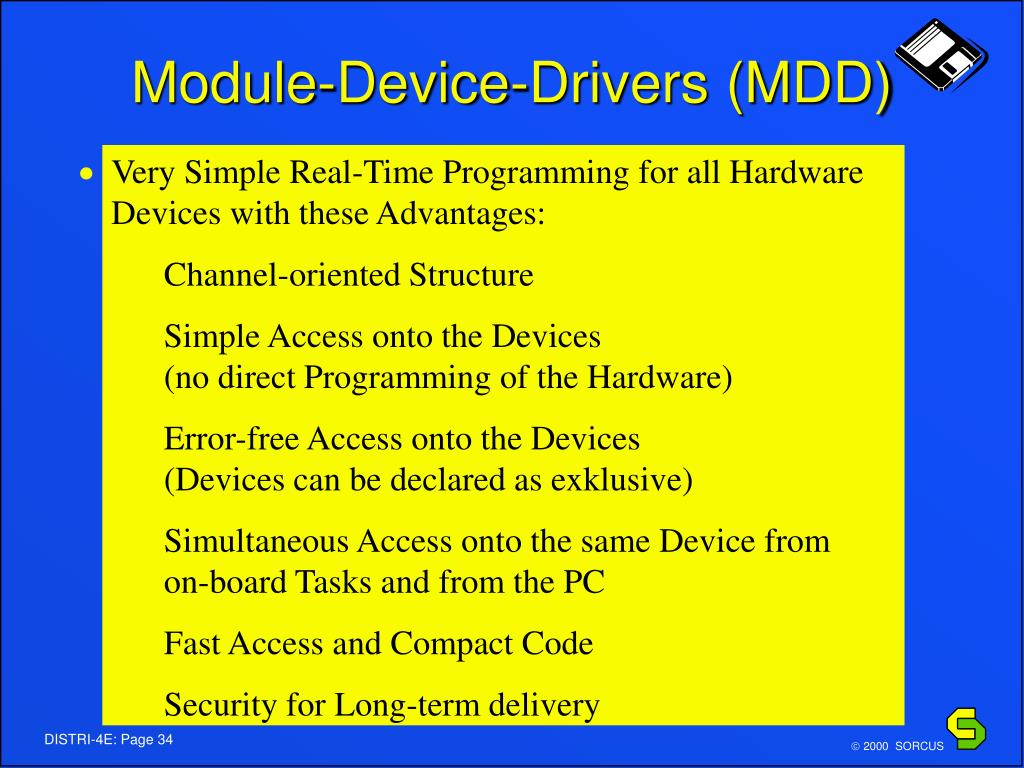 Module-Device-Drivers (MDD)
