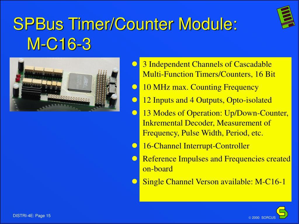 SPBus Timer/Counter Module: