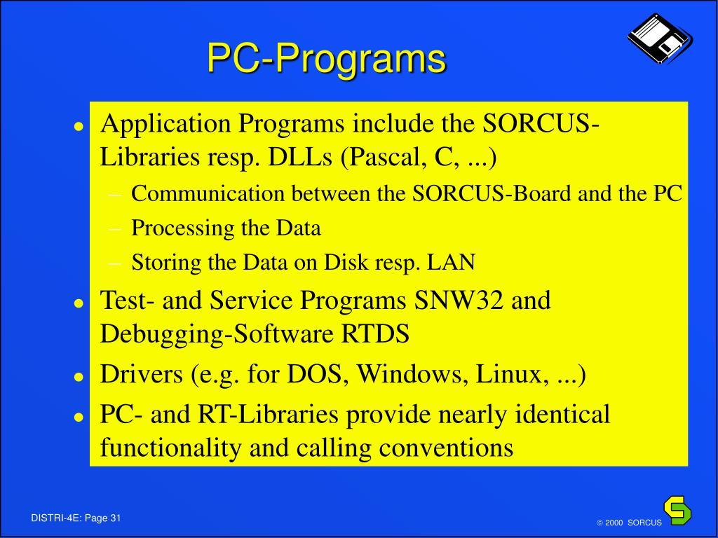 PC-Programs