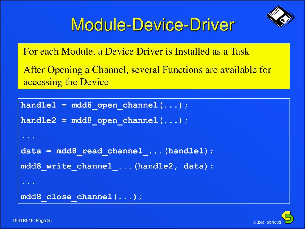 Module-Device-Driver