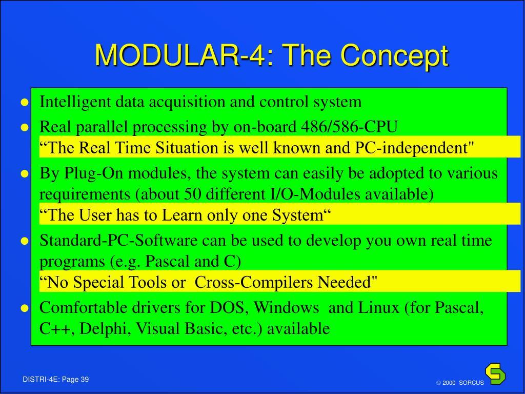 MODULAR-4: The Concept