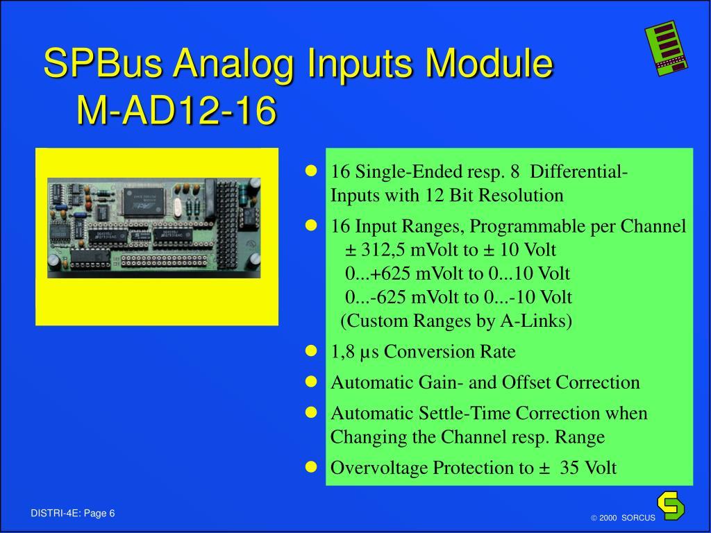 SPBus Analog Inputs Module