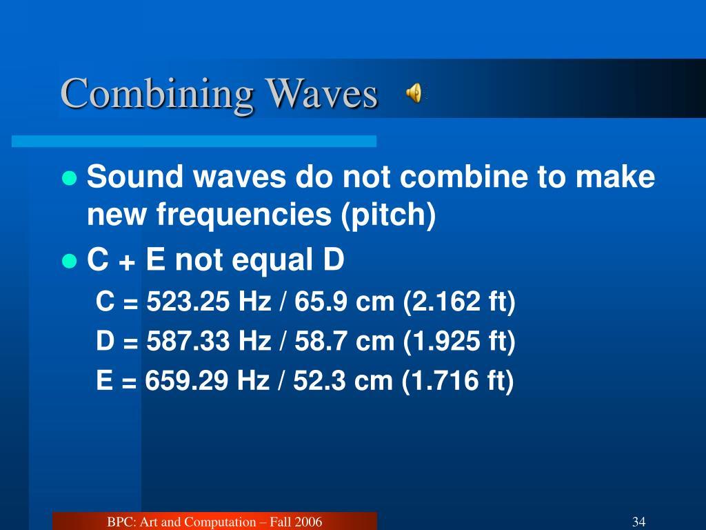 Combining Waves