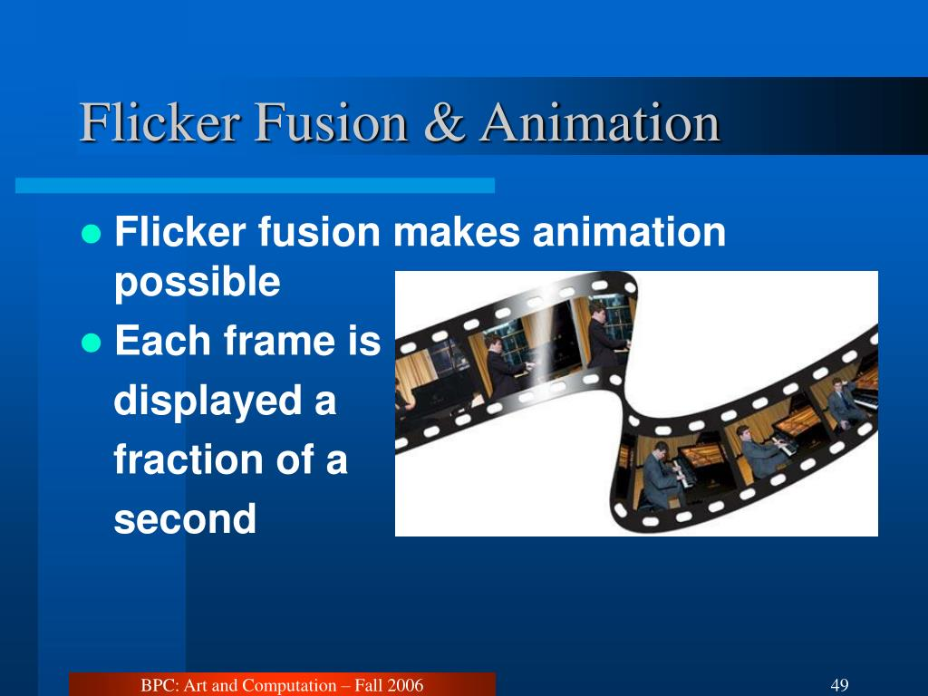 Flicker Fusion & Animation