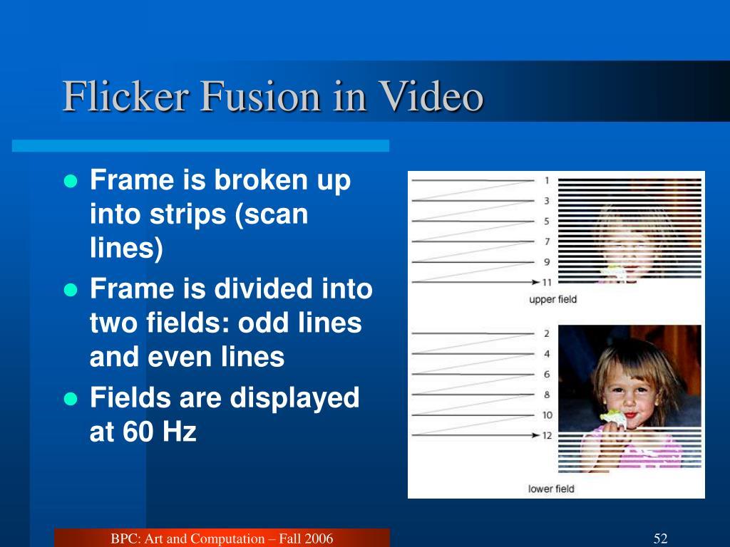 Flicker Fusion in Video