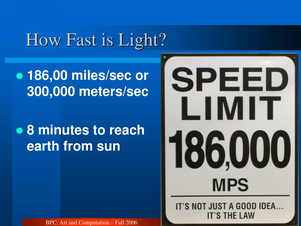 How Fast is Light?