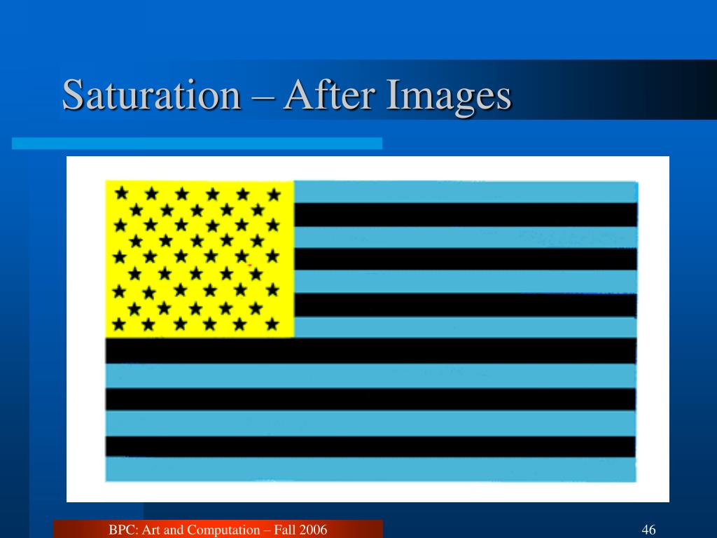 Saturation – After Images