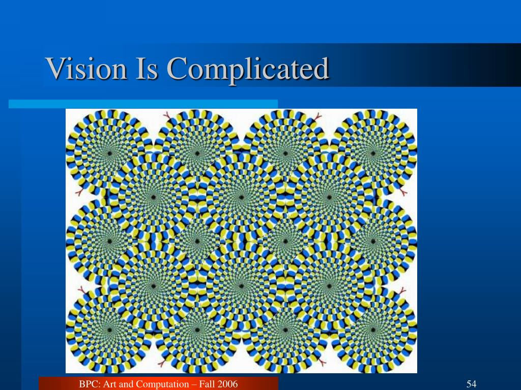 Vision Is Complicated