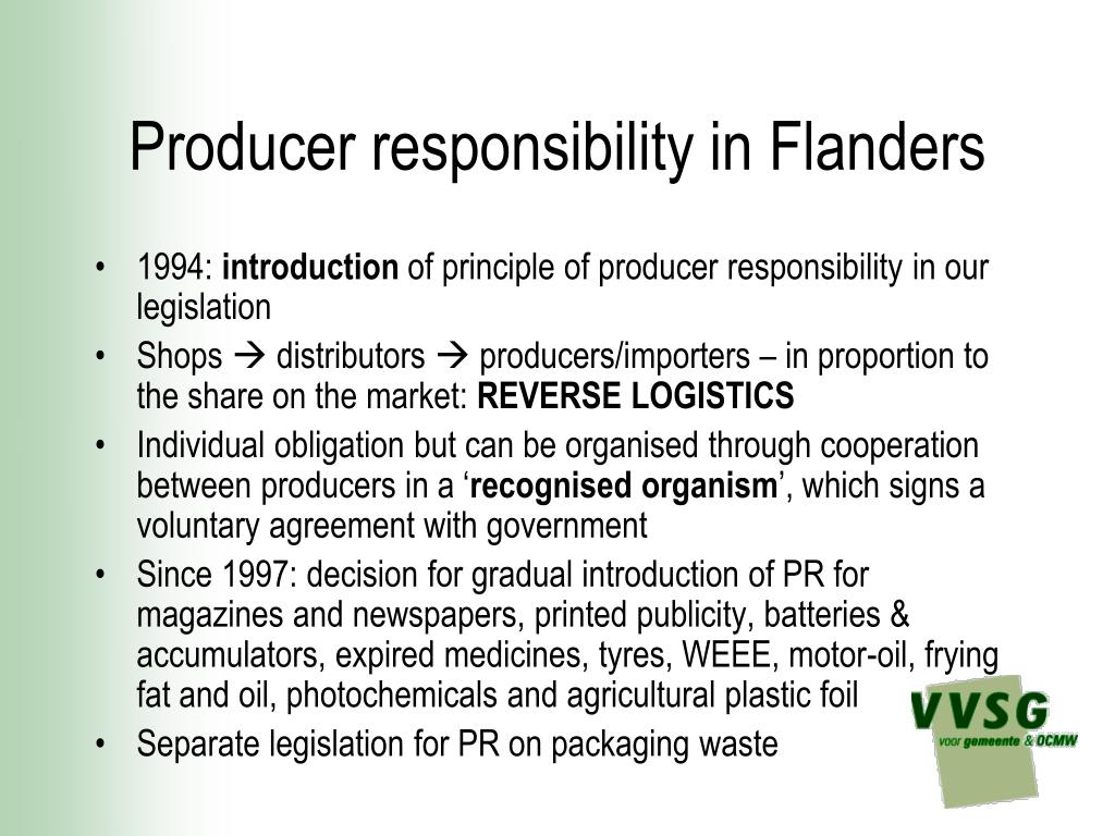 Producer responsibility in Flanders