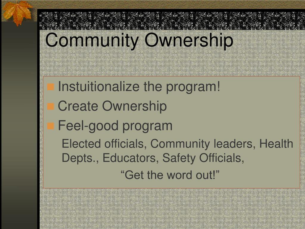 Community Ownership