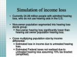 simulation of income loss