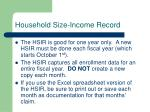 household size income record