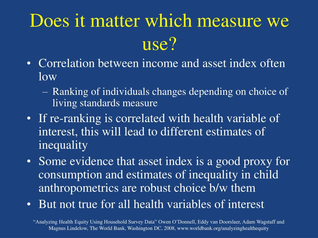 Does it matter which measure we use?