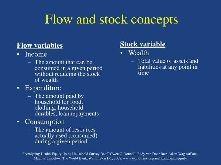 Flow and stock concepts