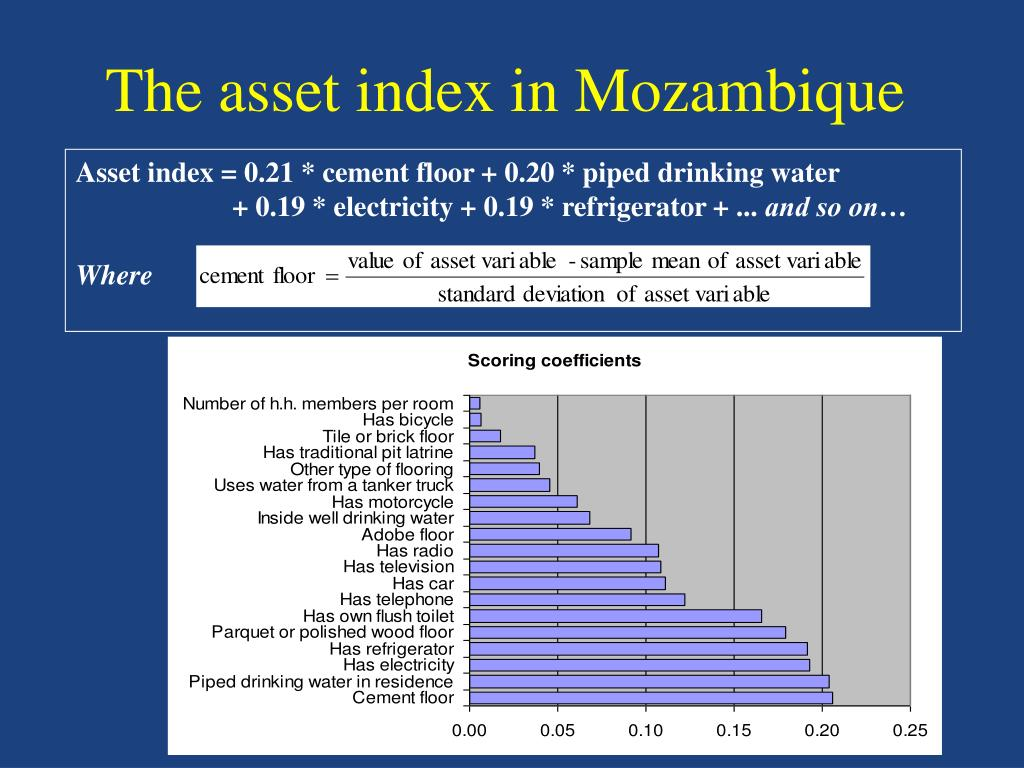 The asset index in Mozambique