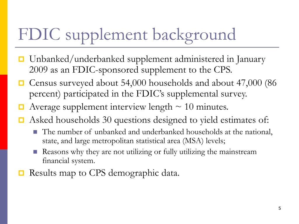 FDIC supplement background