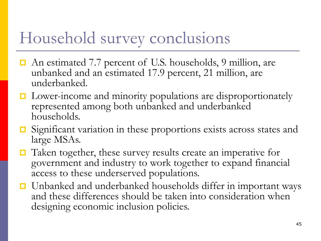 Household survey conclusions