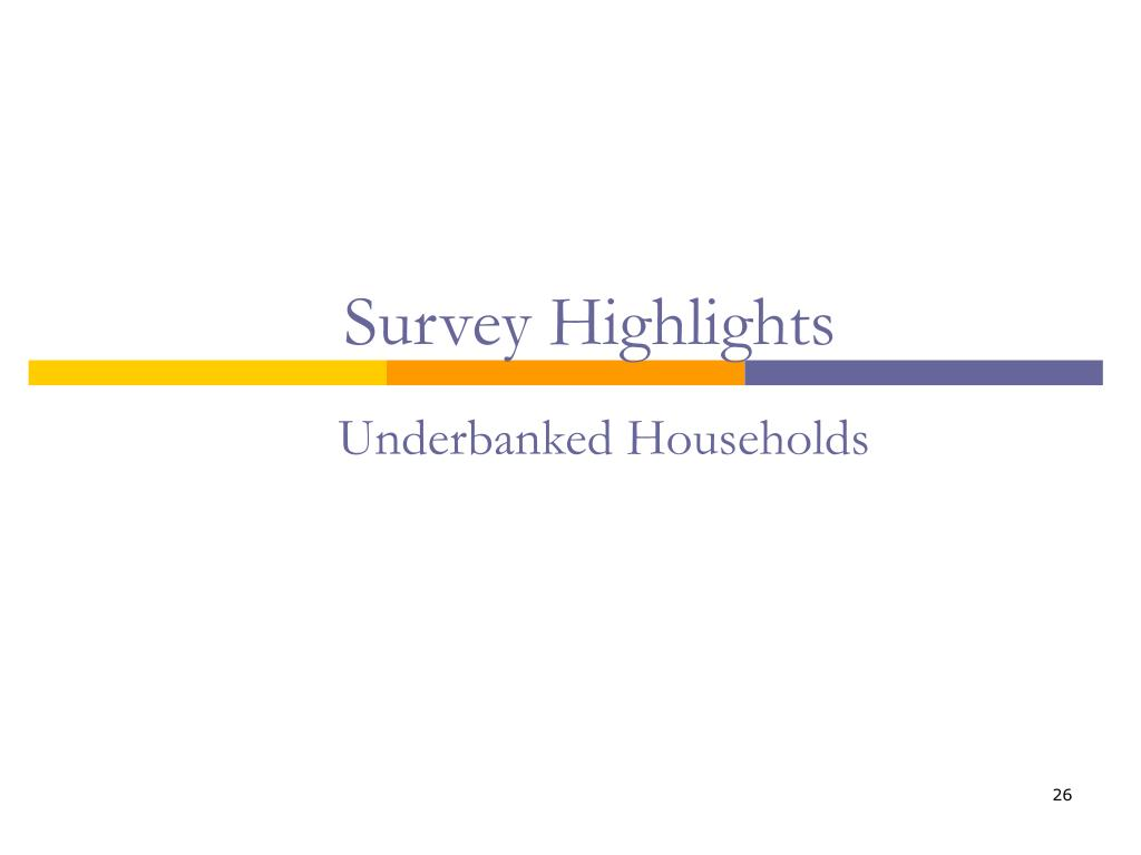 Underbanked Households