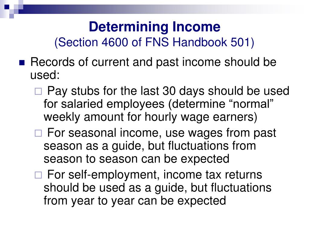 Determining Income