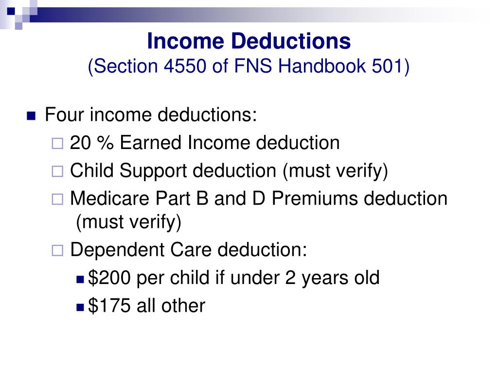 Income Deductions