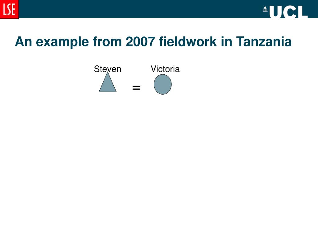 An example from 2007 fieldwork in Tanzania