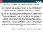 tanzanian example language and the household