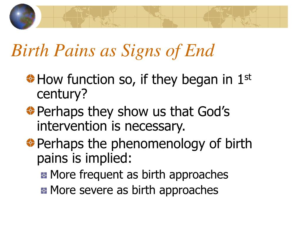 Birth Pains as Signs of End