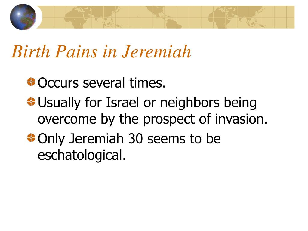 Birth Pains in Jeremiah