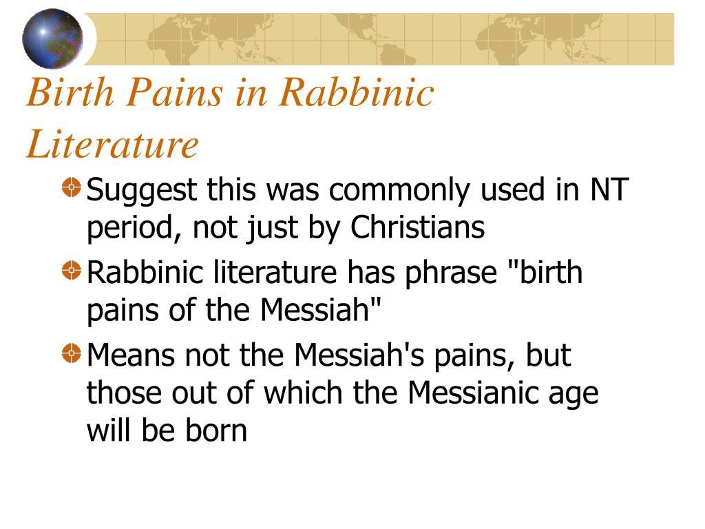 Birth Pains in Rabbinic Literature