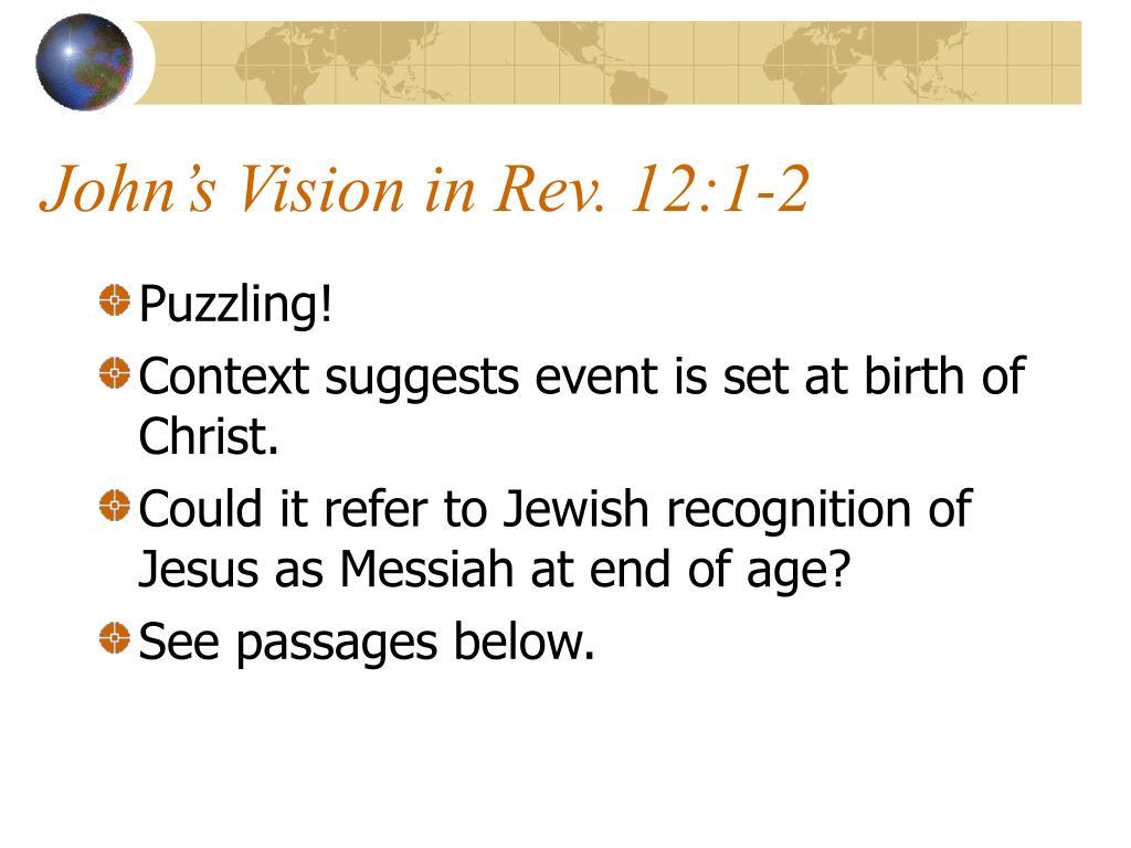 John's Vision in Rev. 12:1-2