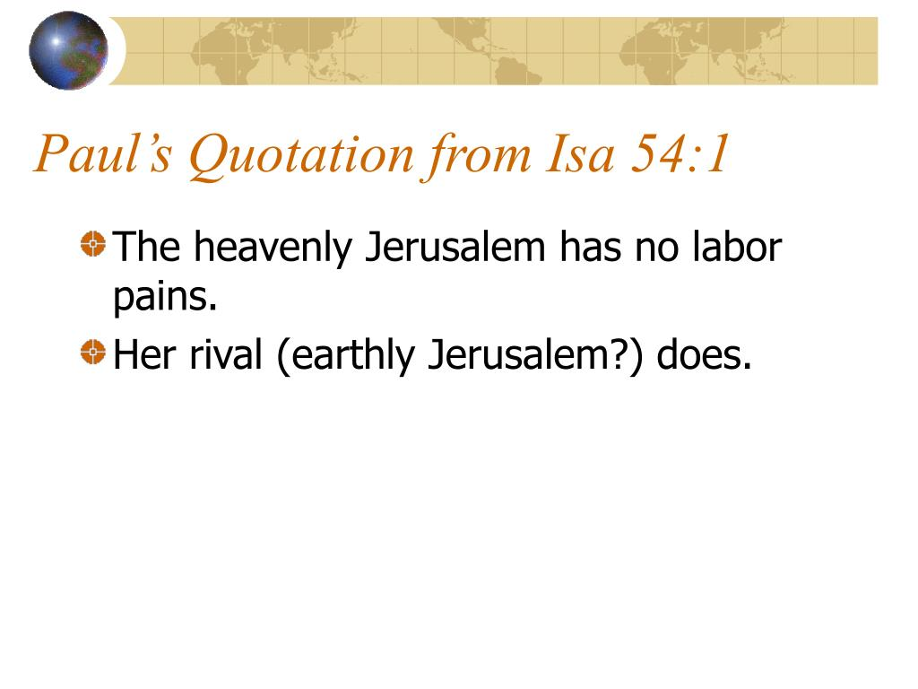 Paul's Quotation from Isa 54:1