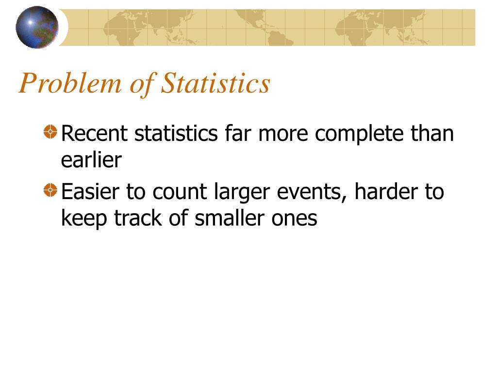 Problem of Statistics