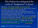 the father has delegated the work of judgment to jesus