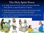 the holy spirit power