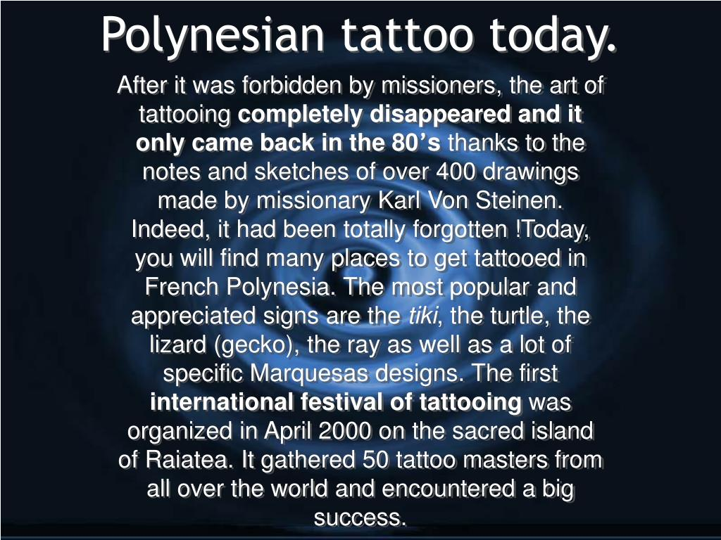 Polynesian tattoo today.