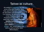 tattoo as culture