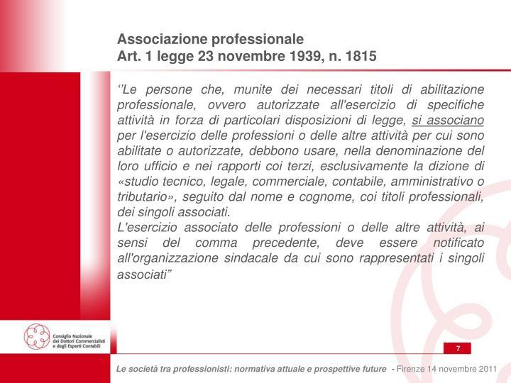 Associazione professionale