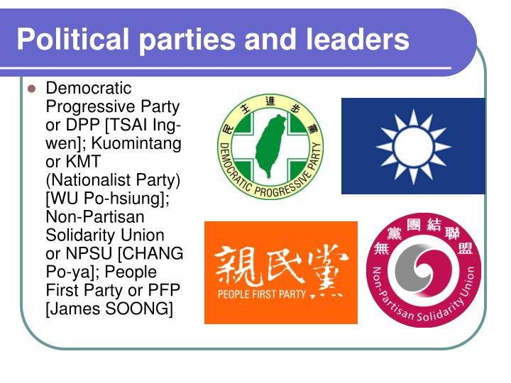 the history of political parties in taiwan Local governments includes the executive and legislature branches of the 6 special municipalities, 3 cities and 13 counties there are totally 22 mayors/magistrates.