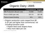 organic dairy 2005