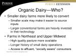 organic dairy who