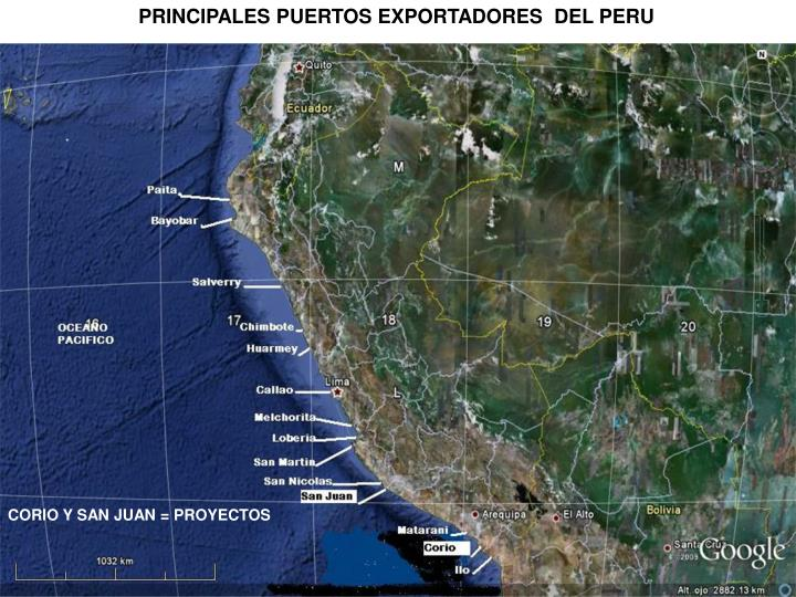 PRINCIPALES PUERTOS EXPORTADORES  DEL PERU